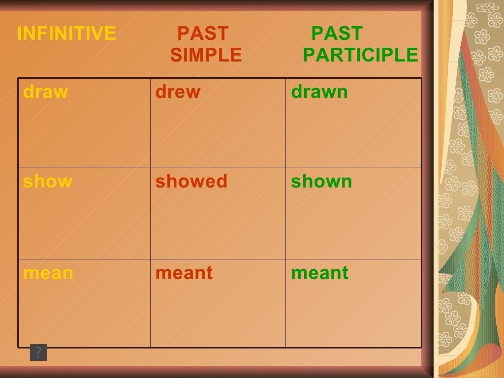 past tense of irregularverbs