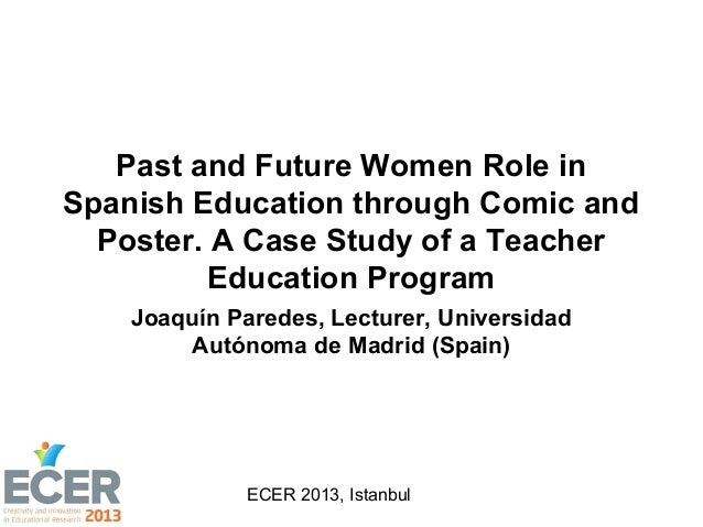 Past and Future Women Role in Spanish Education through