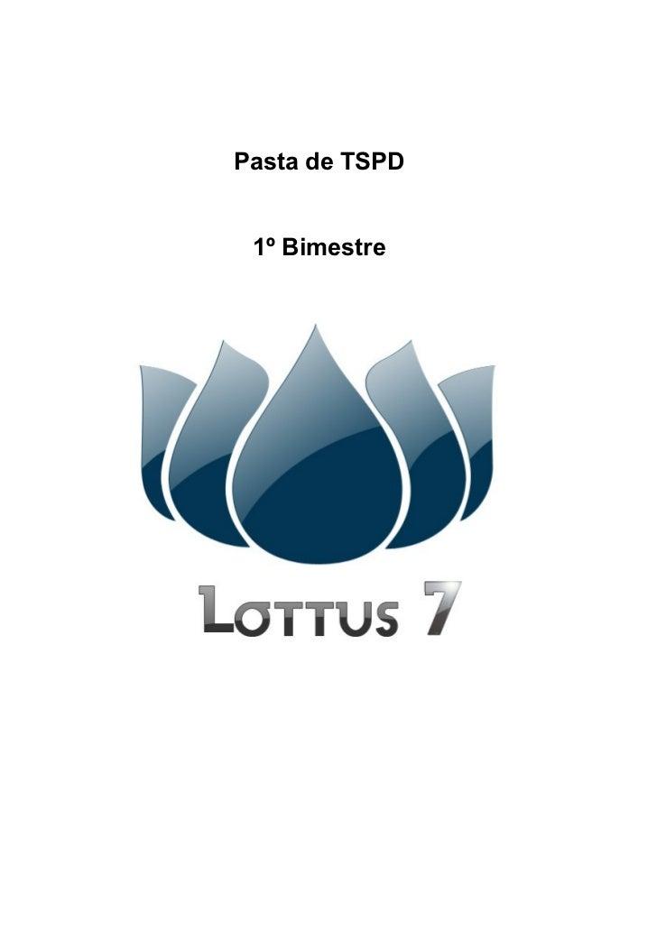 Pasta de TSPD 1º Bimestre
