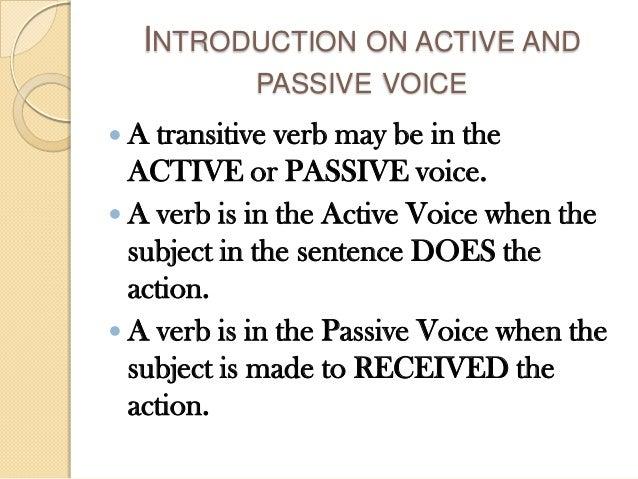 active voice and passive voice pdf