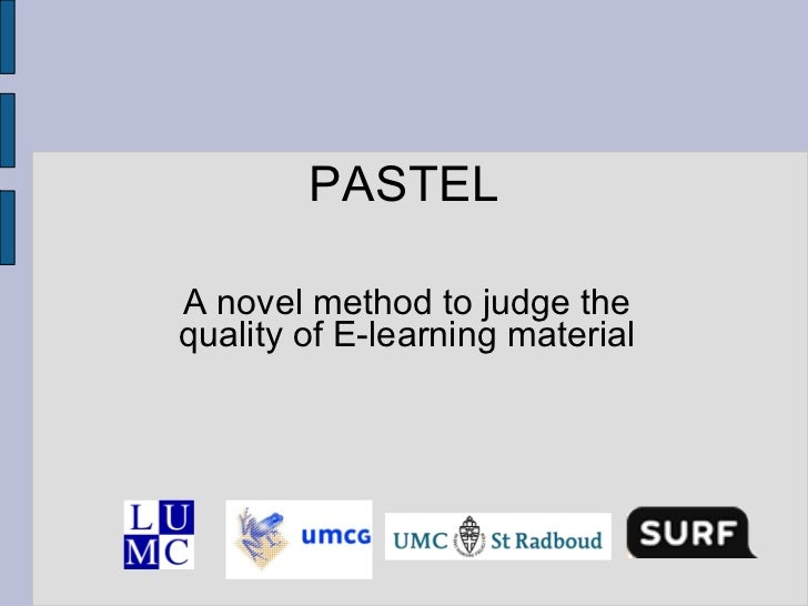 PASTEL A novel method to judge the quality of E-learning material