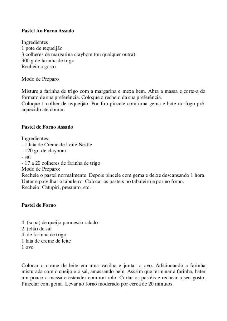 Pastel Ao Forno AssadoIngredientes1 pote de requeijão3 colheres de margarina claybom (ou qualquer outra)300 g de farinha d...