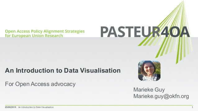 An Introduction to Data Visualisation For Open Access advocacy 25/08/2015 An Introduction to Data Visualisation 1 Marieke ...