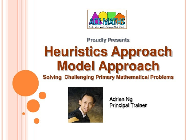 Proudly Presents<br />Heuristics Approach<br />Model Approach<br />Solving  Challenging Primary Mathematical Problems<br /...