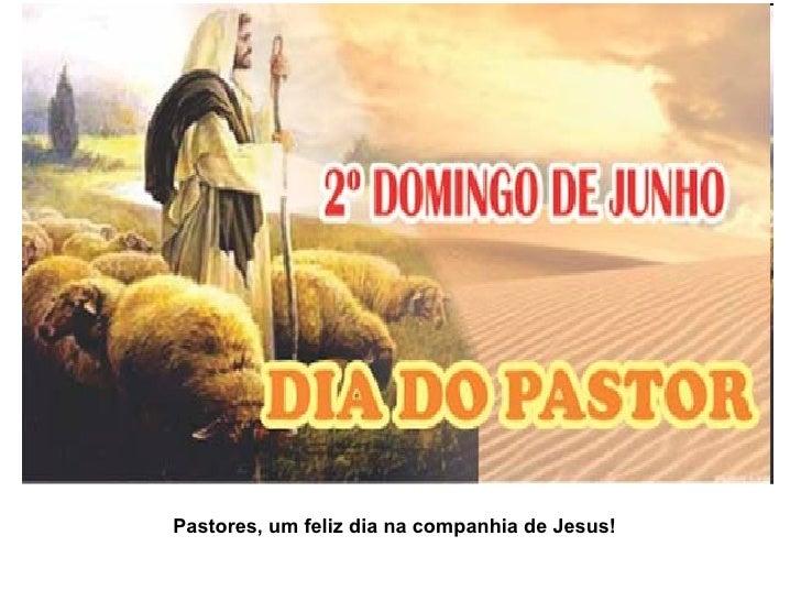 Pastores, um feliz dia na companhia de Jesus!