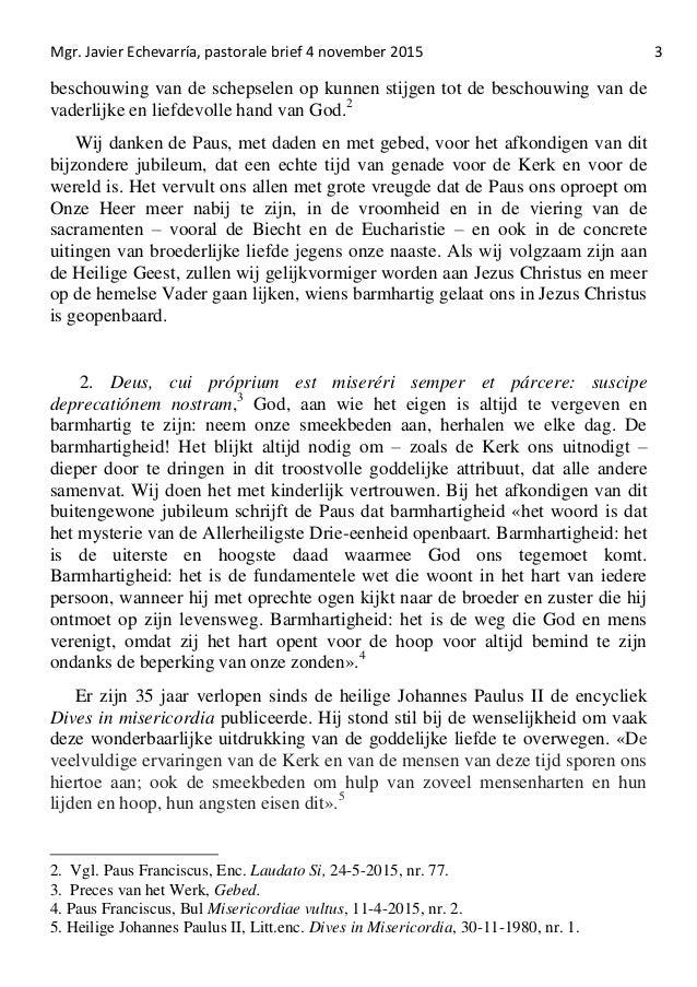 Pastorale Brief 4 11 2015 Mgr Echevarría
