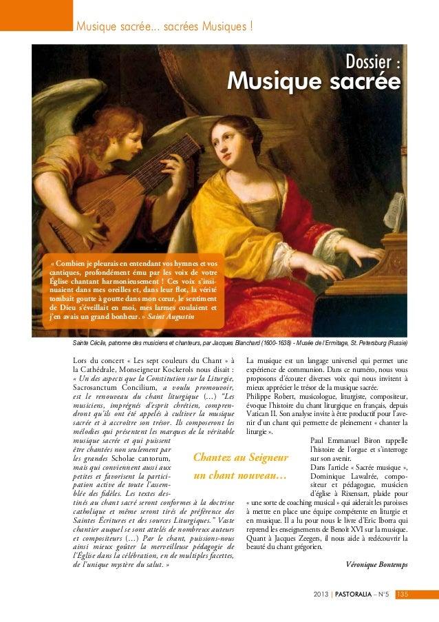 Dossier :  Musique sacrée... sacrées Musiques !  Musique sacrée  Sainte Cécile, patronne des musiciens et chanteurs, par J...