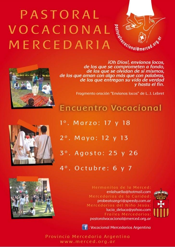 Buenos Aires, febrero de 2012Dirigida a todos los religiosos y religiosas, laicos y laicas de nuestras comunidades.Querido...