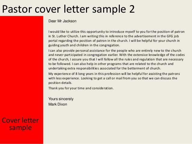 Pastor cover letter yours sincerely mark dixon cover letter sample 3 altavistaventures Choice Image