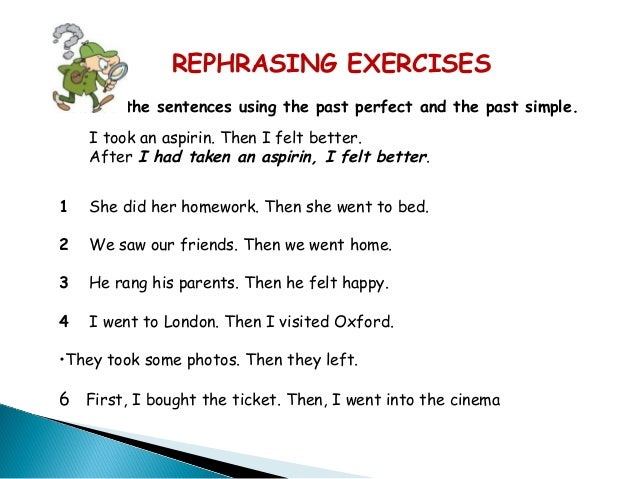 Past Perfect Use And Examples