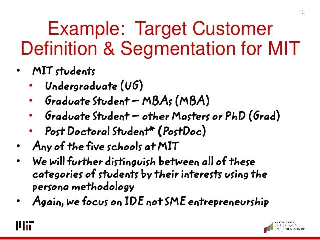 example target customer definition