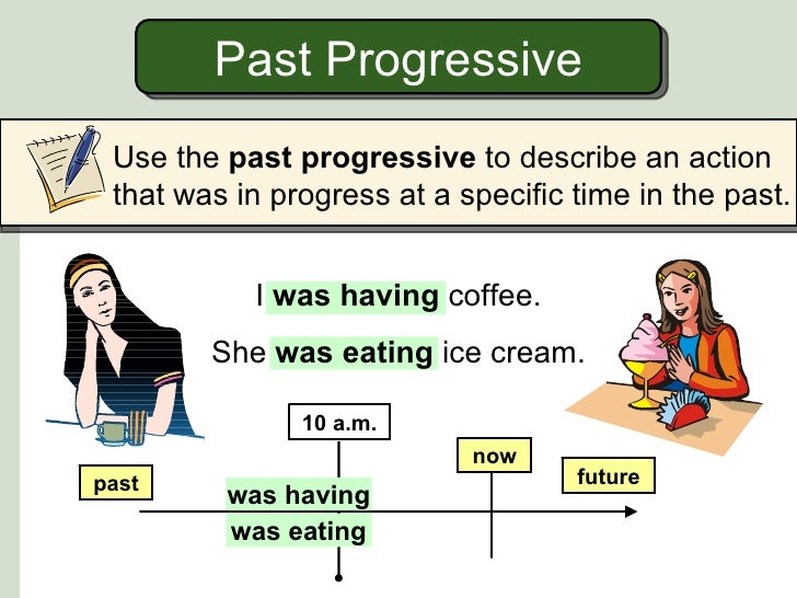 Past progressive and simple past