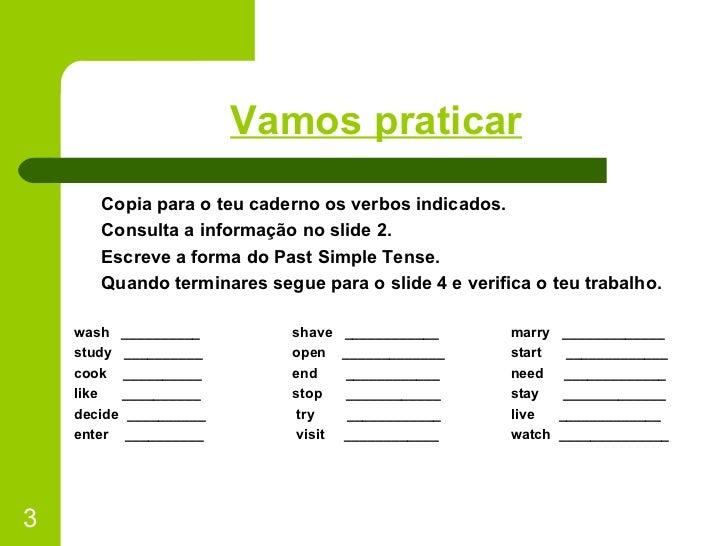 Past Simple 1 Slide 3
