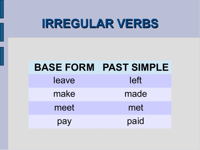 past simple of pay