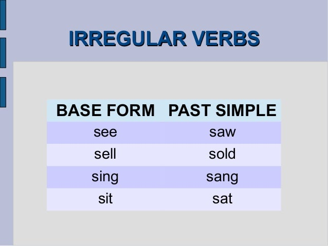 worksheets on irregular verbs