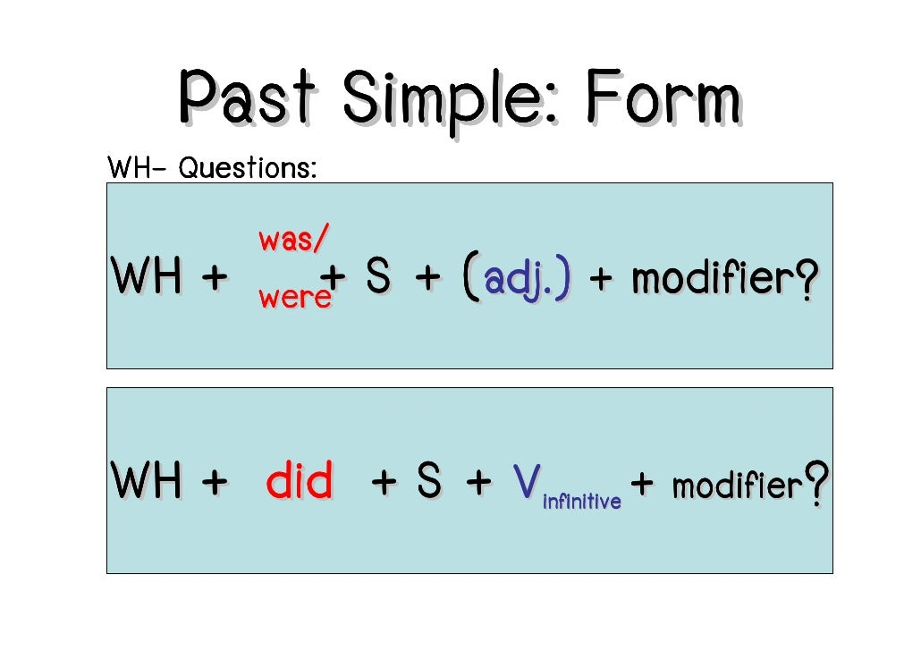 was were simple past pdf