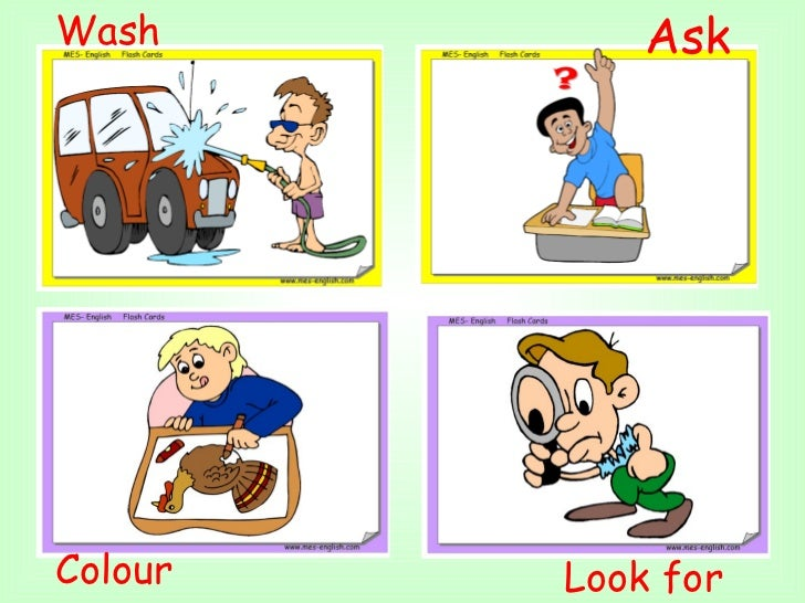 Colour  Look for  Wash  Ask