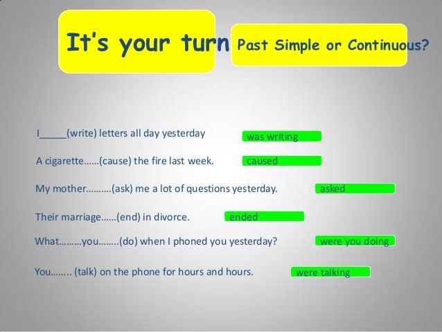 Past tense vs past continuous 9 ccuart Choice Image