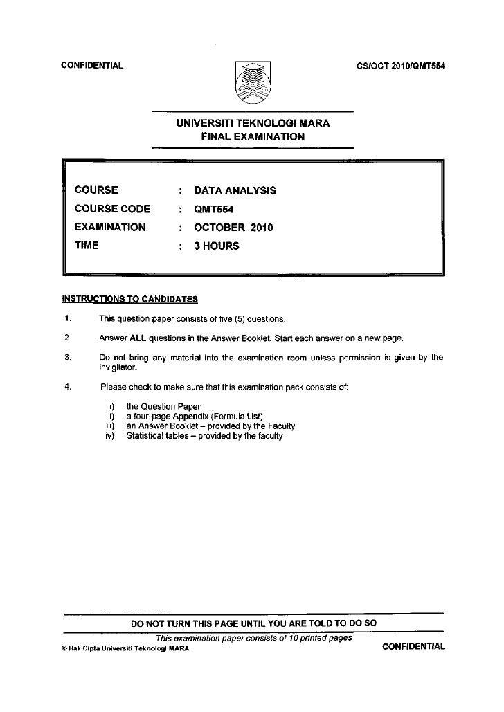 CONFIDENTIAL                                                                      CS/OCT2010/QMT554                       ...