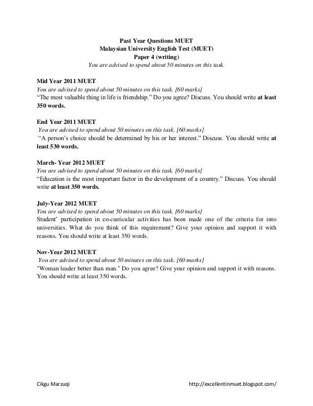 Muet Essay Topics 2012 - image 2