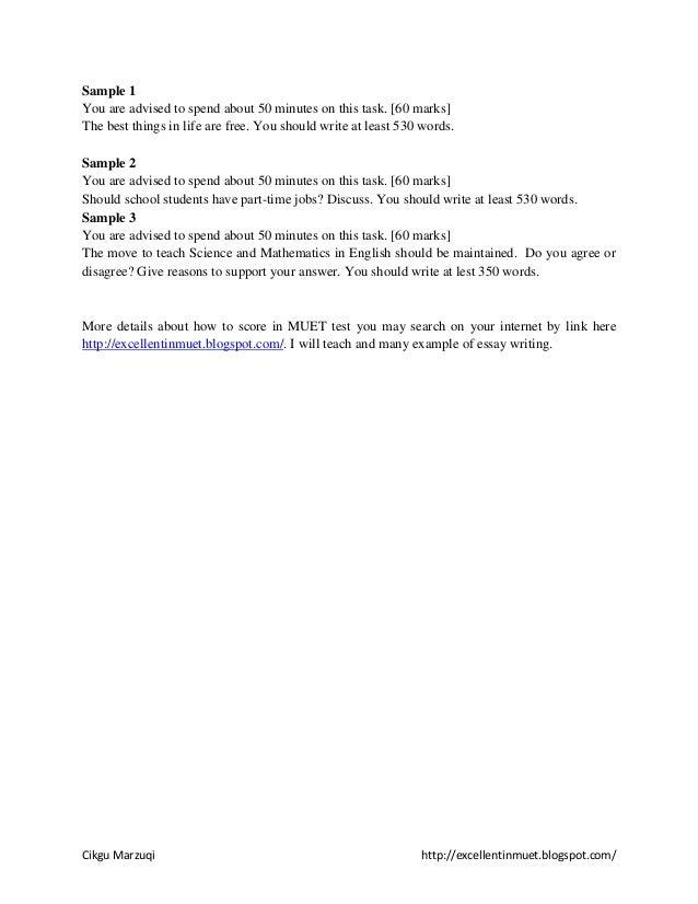 written essay format