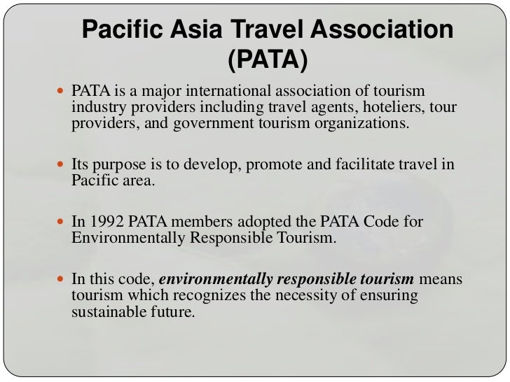 Pata code for environmentally responsible tourism 1 pacific asia travel association publicscrutiny Images