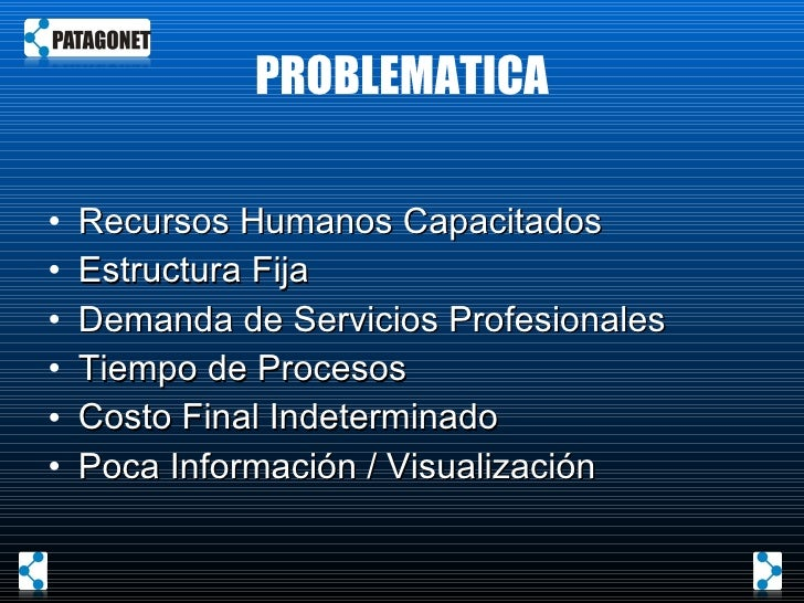 PROBLEMATICA <ul><li>Recursos Humanos Capacitados </li></ul><ul><li>Estructura Fija </li></ul><ul><li>Demanda de Servicios...