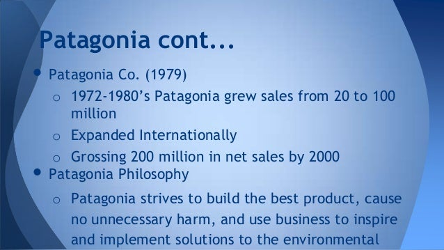 patagonia case study essay Years ago, harvard business school wrote a case study on a transformational time in barry-wehmiller's history, when we embarked on.