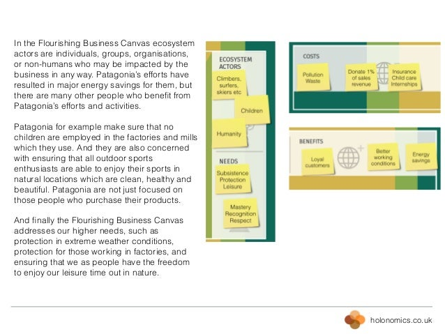holonomics.co.uk In the Flourishing Business Canvas ecosystem actors are individuals, groups, organisations, or non-humans...