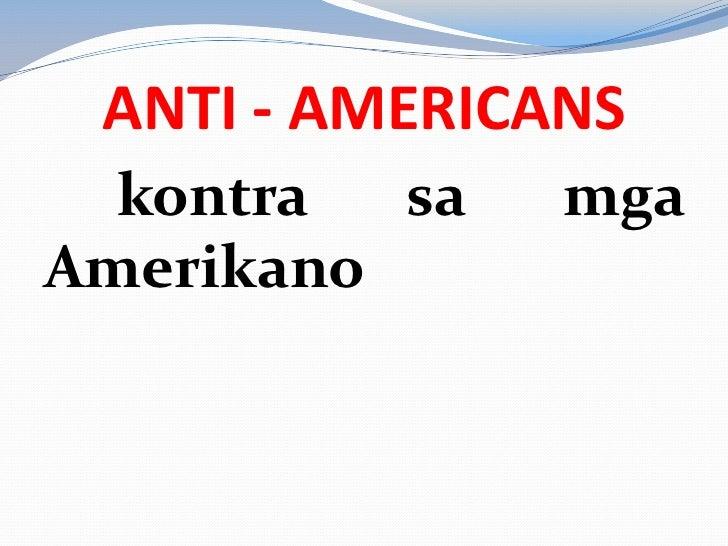 Patakaran at pamana ng mga amerikano