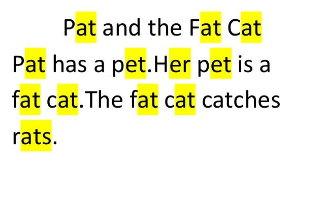 Pat And The Fat Cat