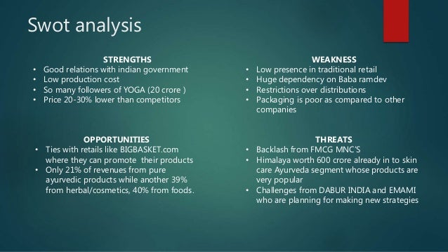 swot analysis of any fmcg product Why use swot analysis a swot analysis can be used as part of business planning, market analysis, project management, organizational change, individual development (such as a career change or evaluation), or any situation requiring strategic planning to reach an objective.