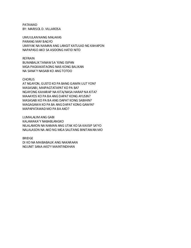 PATAWADBY: MARISOL D. VILLAROSAUMUULAN NANG MALAKASPARANG MAY BAGYOUMIIYAK NA NAMAN ANG LANGIT KATULAD NG KAHAPONNAPAPASO ...