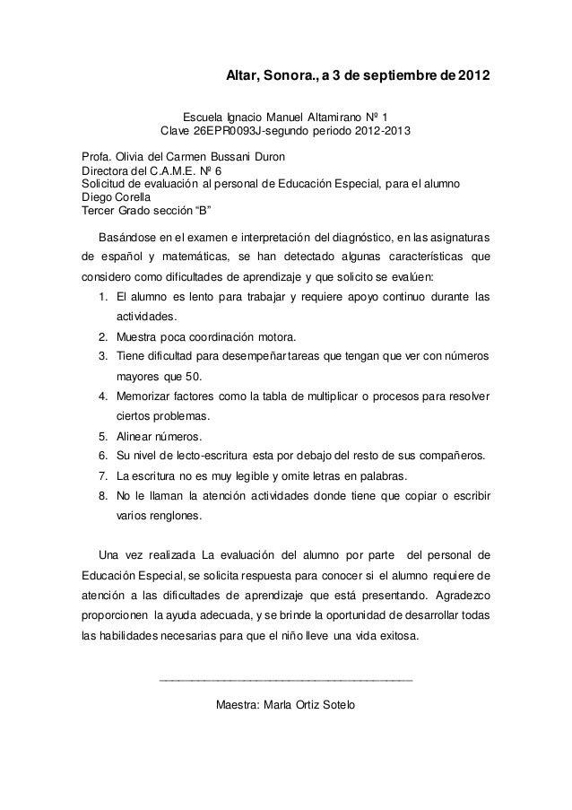 Altar, Sonora.,a 3 de septiembre de 2012 Escuela Ignacio Manuel Altamirano Nº 1 Clave 26EPR0093J-segundo periodo 2012-2013...