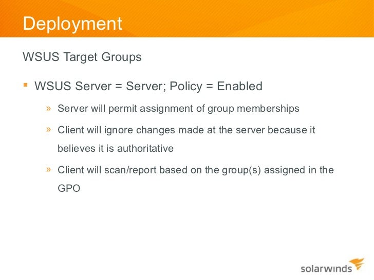 Common WSUS Issues in Deployment Operations and Diagnostics