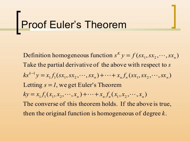 how to find k of a homogeneous function