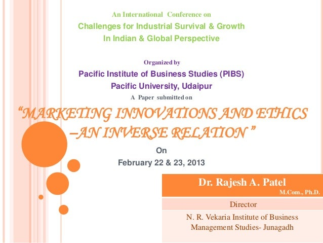 An International Conference on       Challenges for Industrial Survival & Growth             In Indian & Global Perspectiv...
