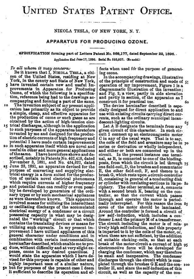 Patent za uredaj za ozon