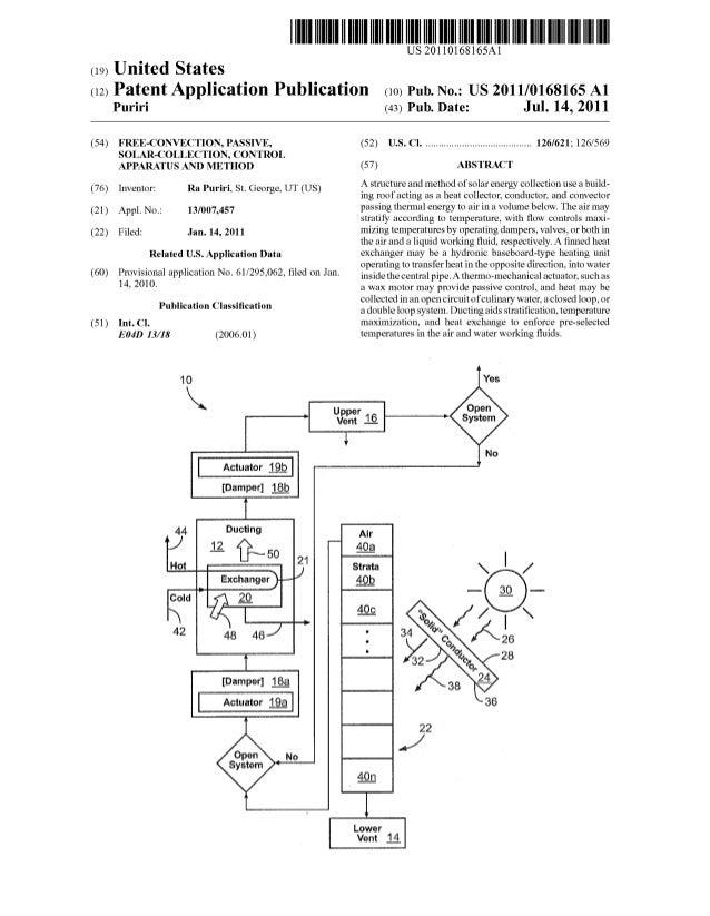 Patent application / Solar Fins