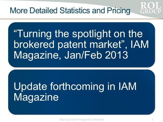 Patent Brokerage Market Snapshot Slide 3
