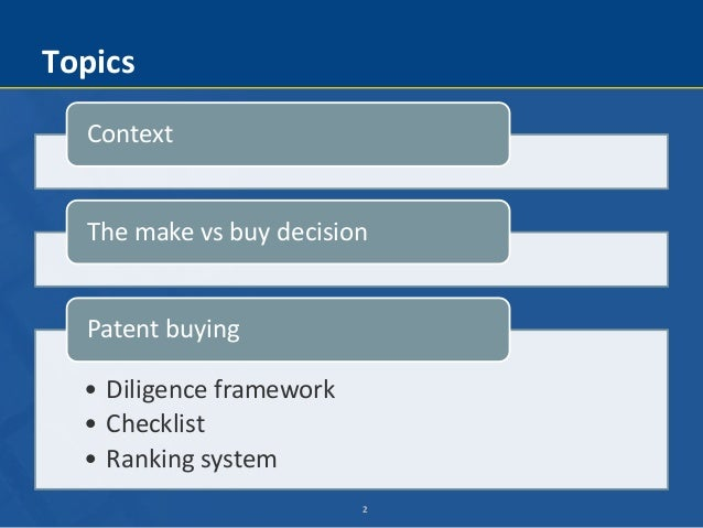 Make vs. Buy: Patent Buying Slide 2