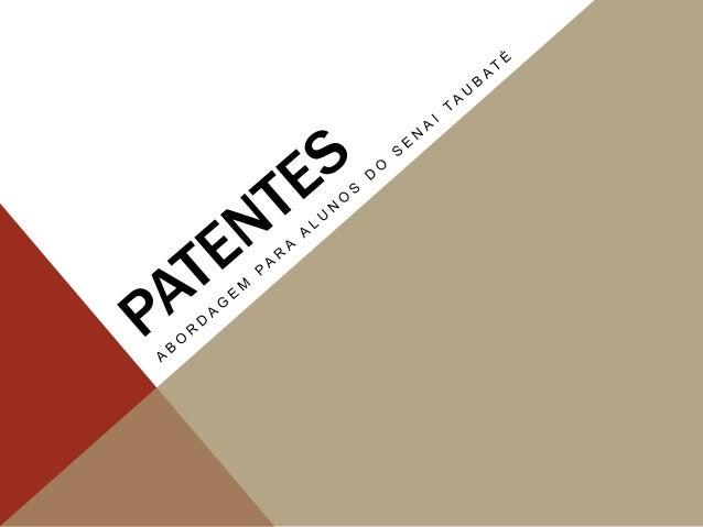 Revelação  Documento  Proteção  Carta Patente