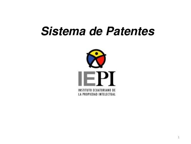1 Sistema de Patentes
