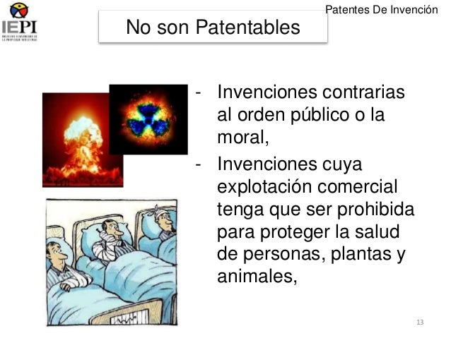 invenciones que no son patentables