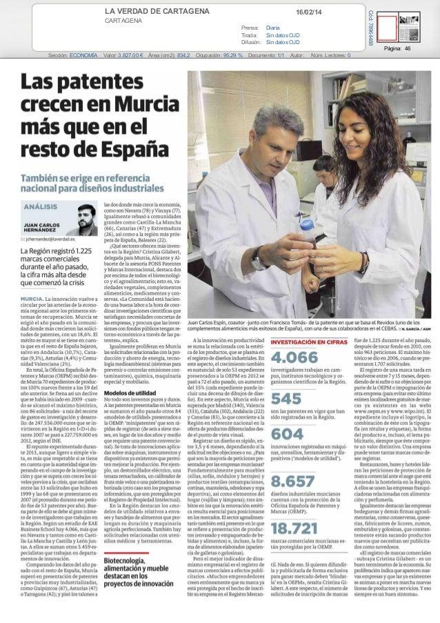 16/02/14  CARTAGENA Prensa: Diaria Tirada: Sin datos OJD Difusión: Sin datos OJD  Cód: 78964488  LA VERDAD DE CARTAGENA  P...
