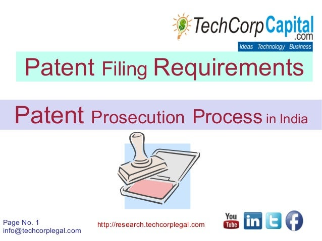 Patent Filing Procedures In India Patent Protection Registration