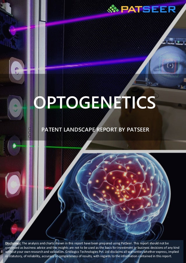 OPTOGENETICS PATENT LANDSCAPE REPORT BY PATSEER Disclaimer: The analysis and charts shown in this report have been prepare...