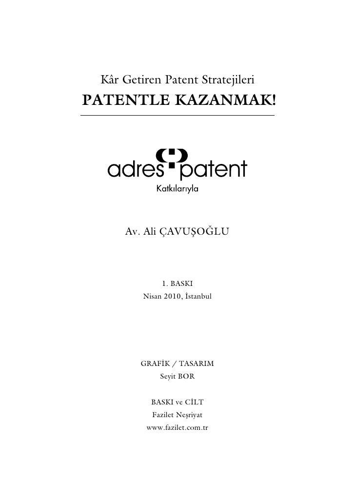 Patentle kazanmak