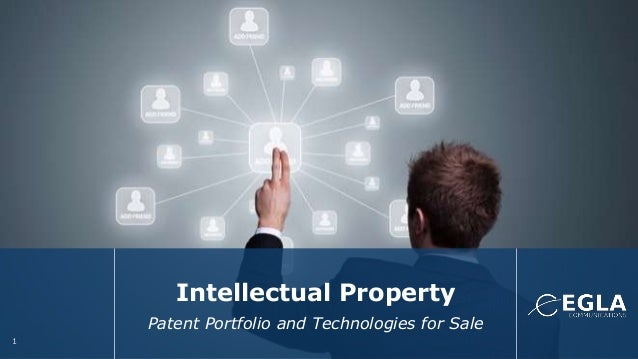 Intellectual Property Patent Portfolio and Technologies for Sale 1