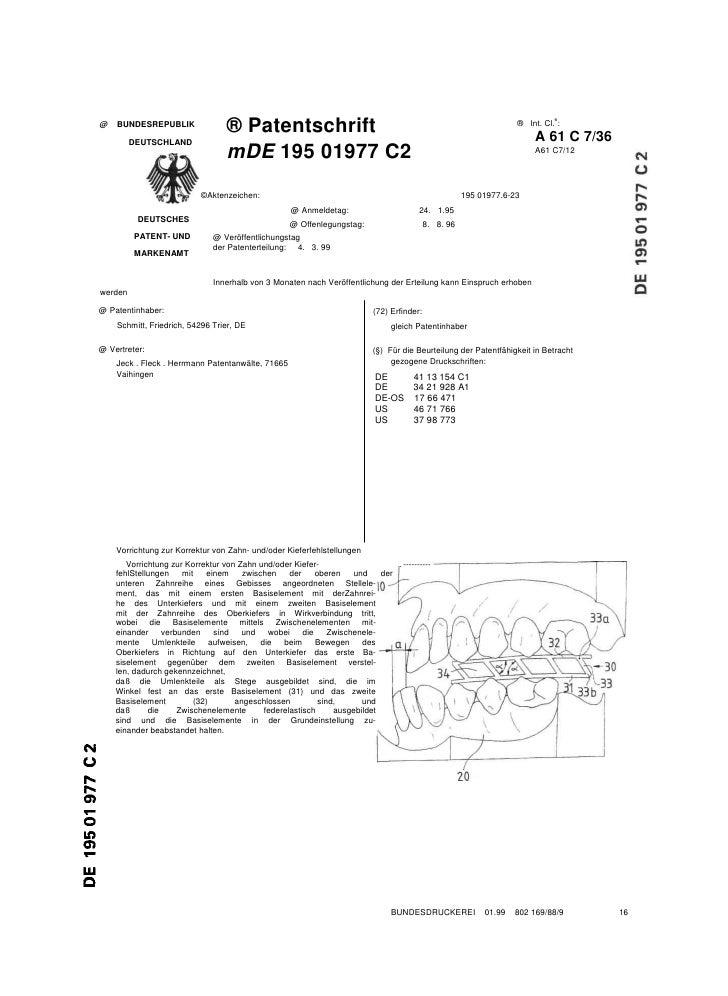 ® Patentschrift                                                                   ® Int. Cl.6: @   BUNDESREPUBLIK         ...